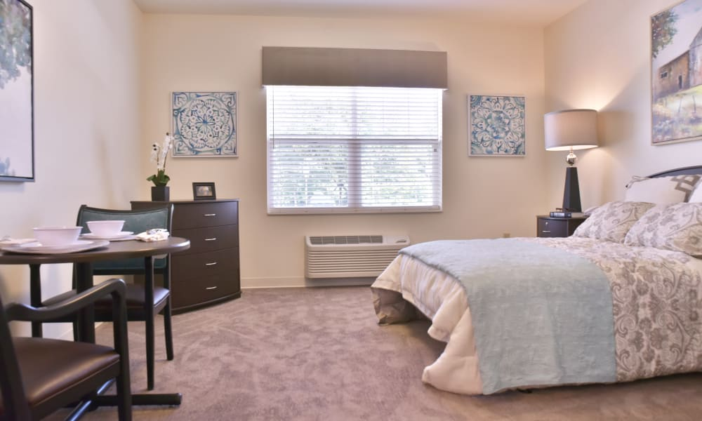 Spacious resident bedroom at Trilogy Health Services - La Grange in La Grange, Kentucky