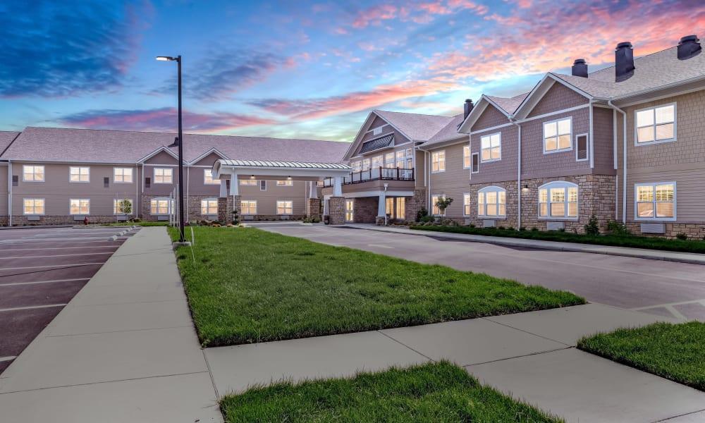 Sunset views of Trilogy Health Services - La Grange in La Grange, Kentucky