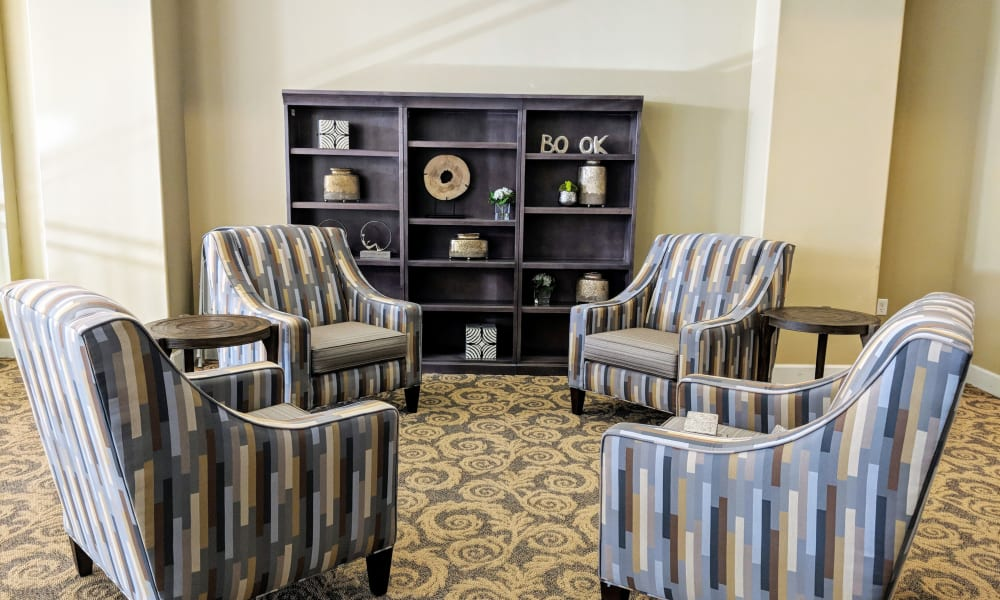 Chairs in common area at Timber Pointe Senior Living in Springfield, Oregon