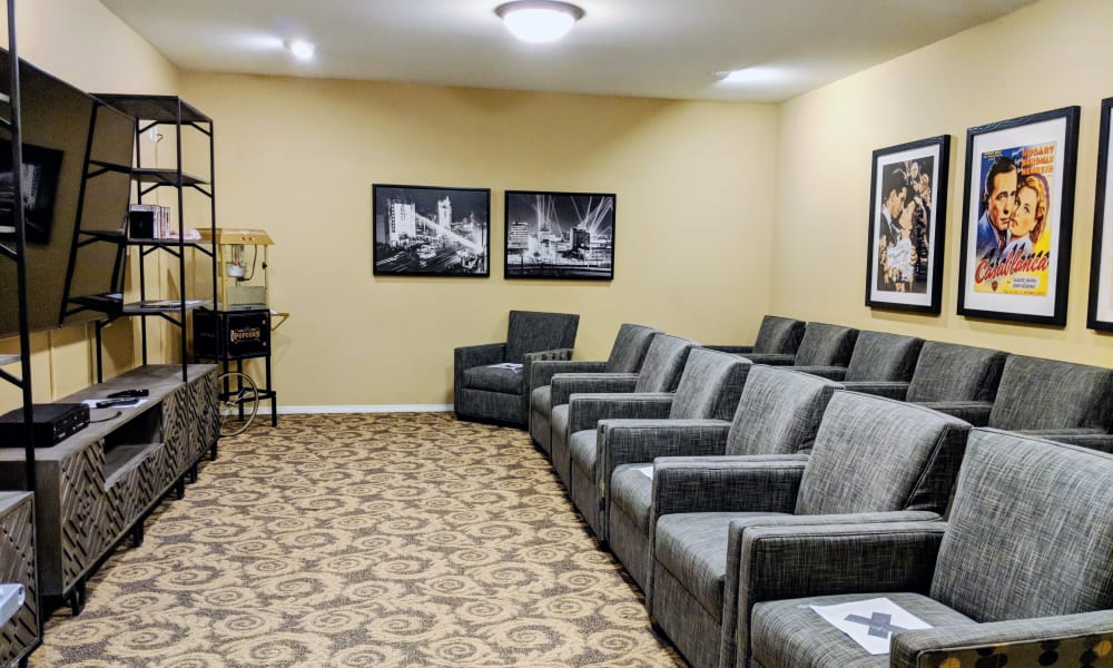 Theater at Timber Pointe Senior Living in Springfield, Oregon