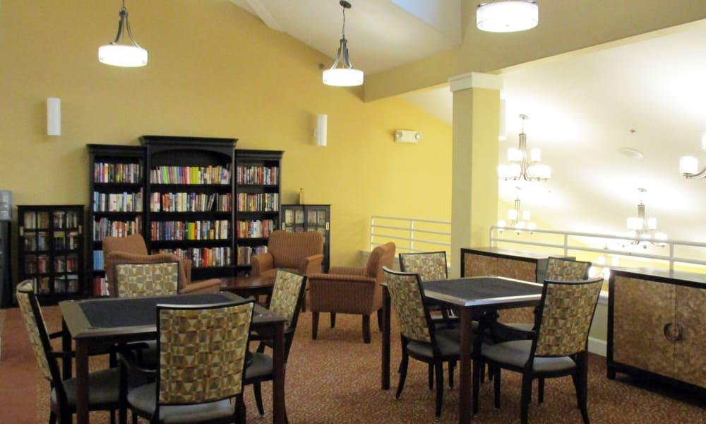 Gaming room at Woodside Senior Living in Springfield, Oregon