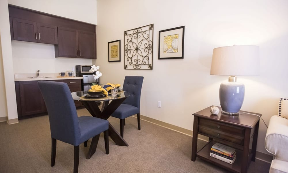 A resident apartment at The Pointe at Summit Hills in Bakersfield, California.