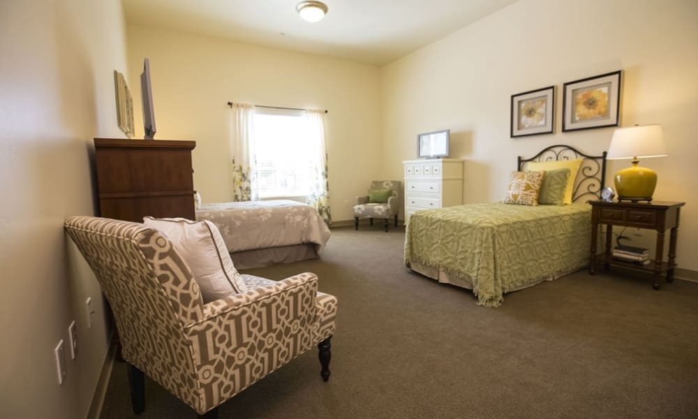 Spacious memory care floor plans at The Pointe at Summit Hills in Bakersfield, California.