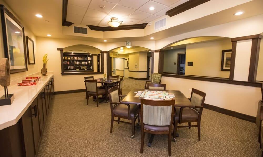 Game room at The Pointe at Summit Hills in Bakersfield, California