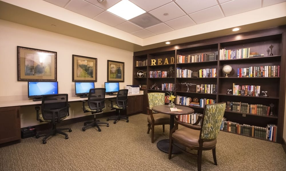 Resident media room at The Pointe at Summit Hills in Bakersfield, California