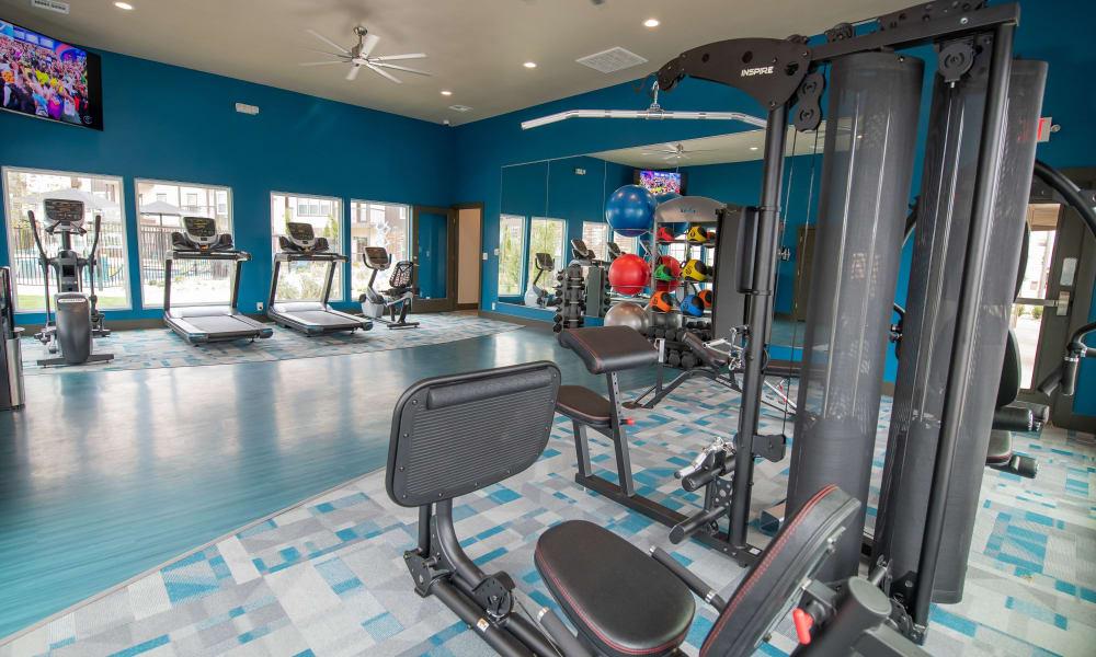 Gym at 97@ North Oak in Kansas City, Missouri