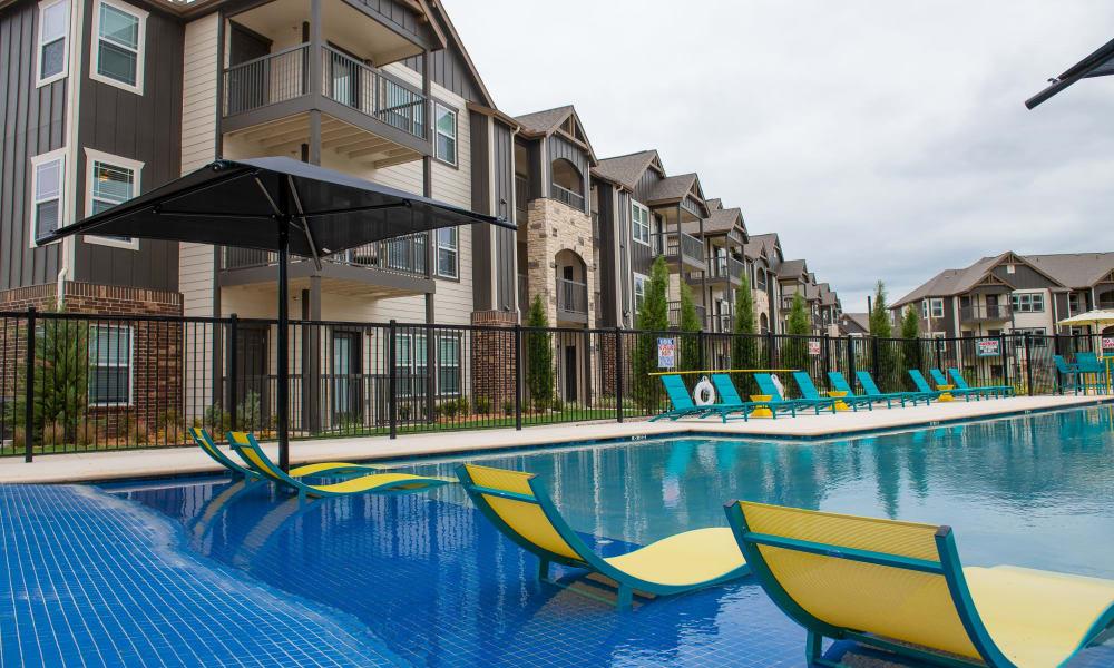 Pool lounge area at 97@ North Oak in Kansas City, Missouri