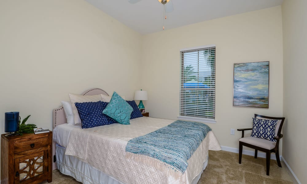Bedroom in model home at Palm Bay Club in Jacksonville, Florida
