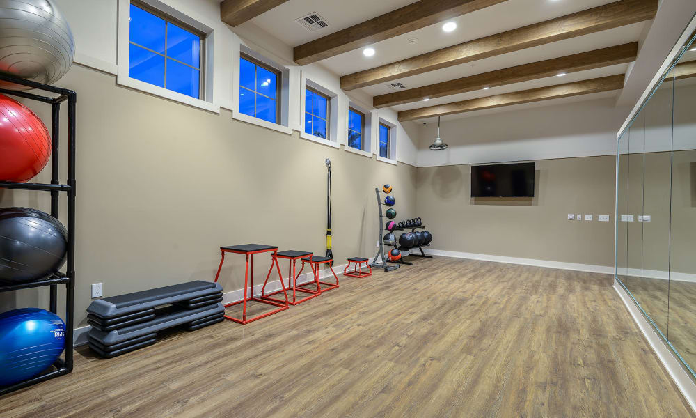 Yoga room at Palm Bay Club in Jacksonville, Florida