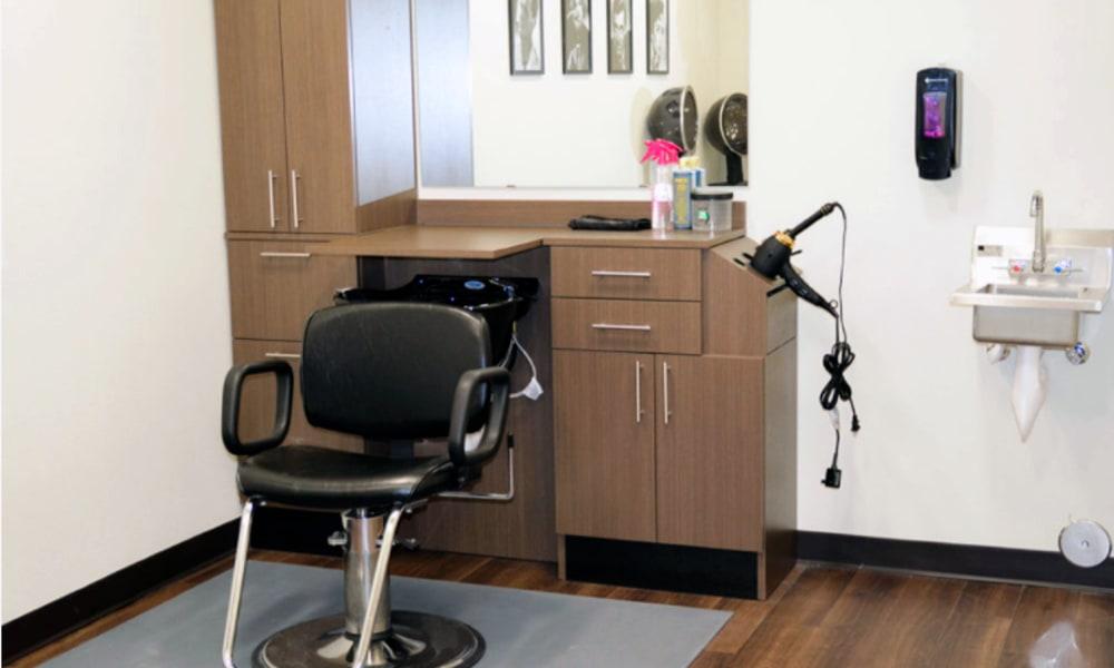 onsite hair salon inside Aspen Valley Senior Living in Boise, Idaho