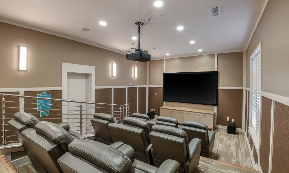 Onsite movie theater at Palm Bay Club in Jacksonville, Florida