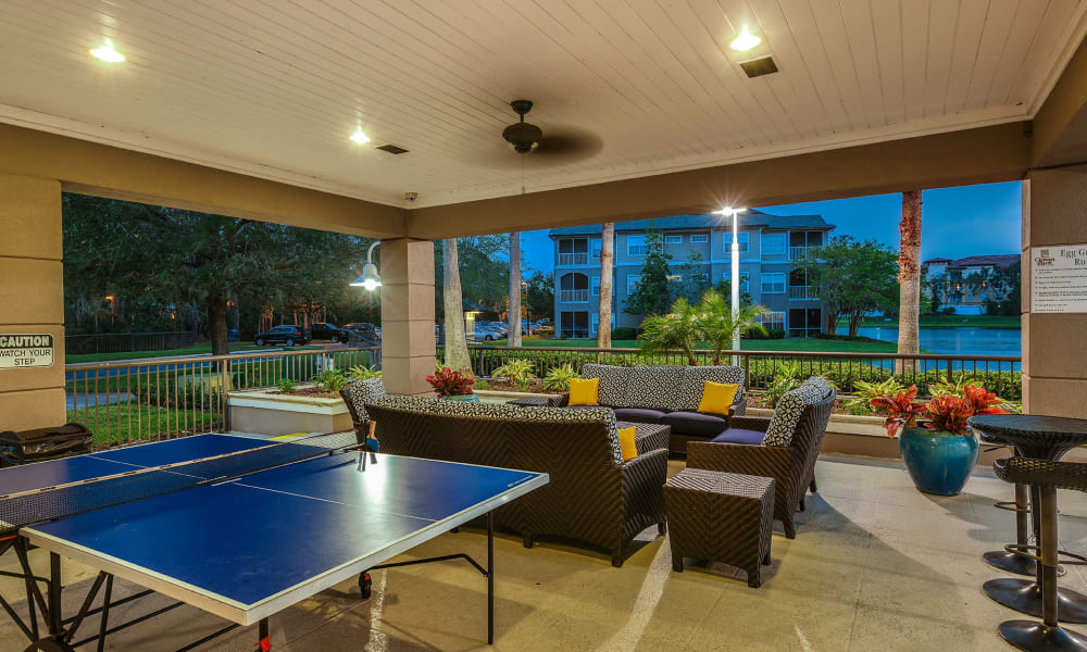 Game area for residents to play in at Ocean Park of Ponte Vedra in Jacksonville Beach, Florida