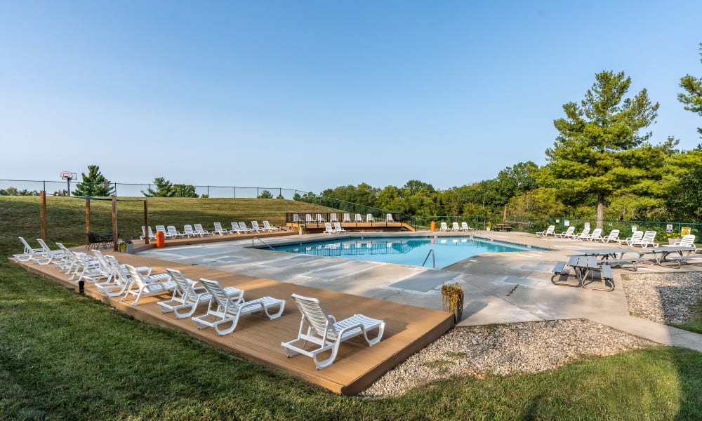 Sparkling pool at Miamiview Apartments in Cleves, Ohio