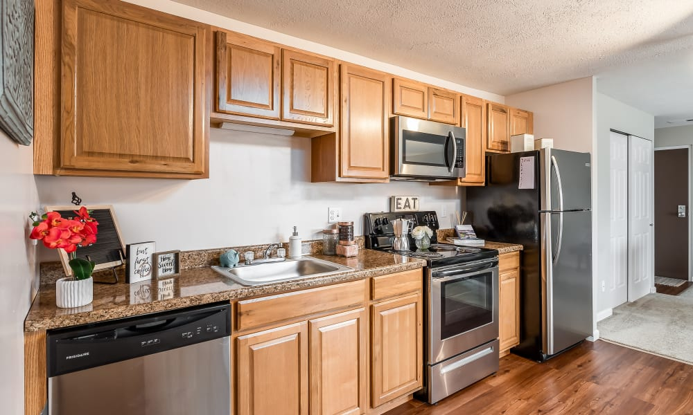 Spacious kitchen at Miamiview Apartments in Cleves, Ohio