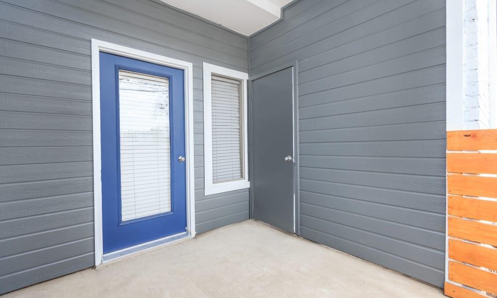 Private patio door at APEX in San Antonio, Texas
