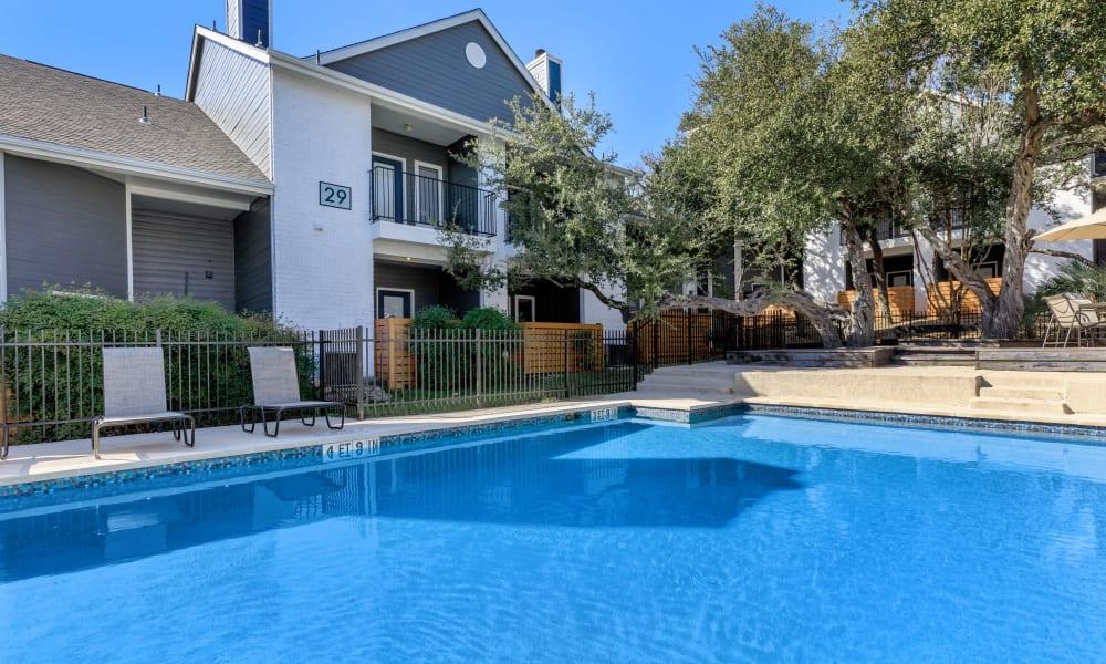 Outdoor swimming pool at APEX in San Antonio, Texas