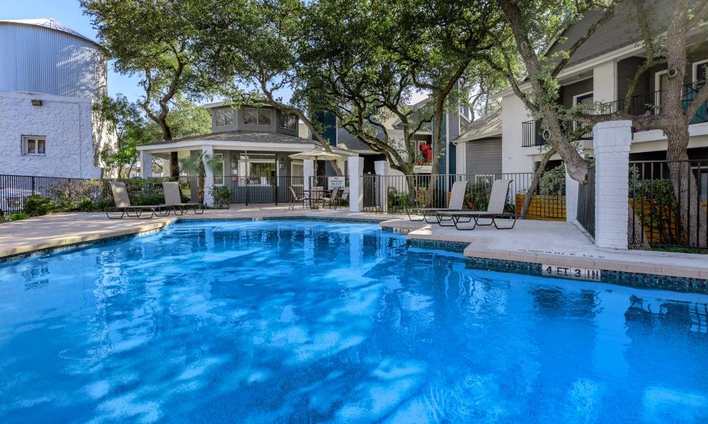 Sparkling swimming pool at APEX in San Antonio, Texas