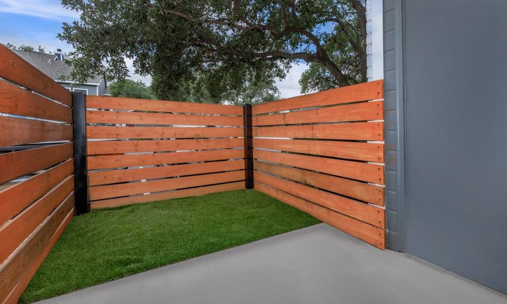 Private patio at APEX in San Antonio, Texas