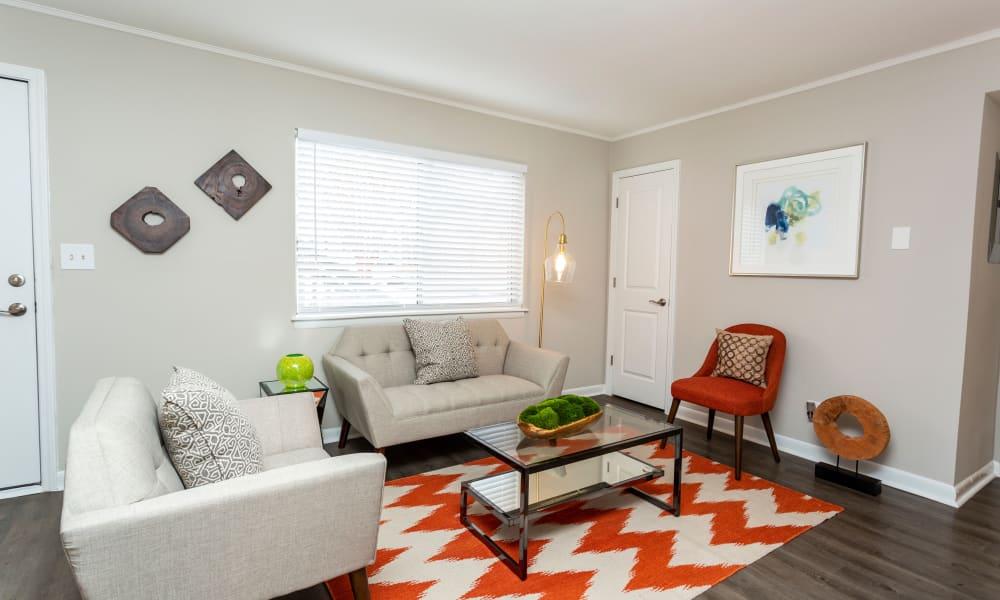 Model living room at Beckett Park in Smyrna, Georgia