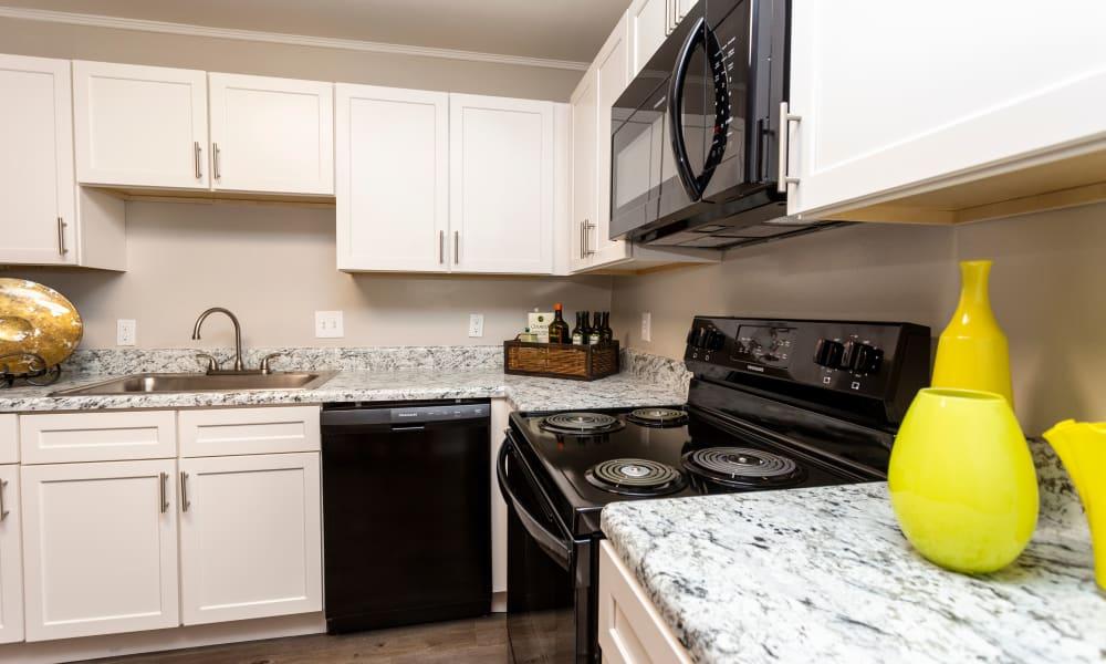 Model kitchen with updated appliances at Beckett Park in Smyrna, Georgia