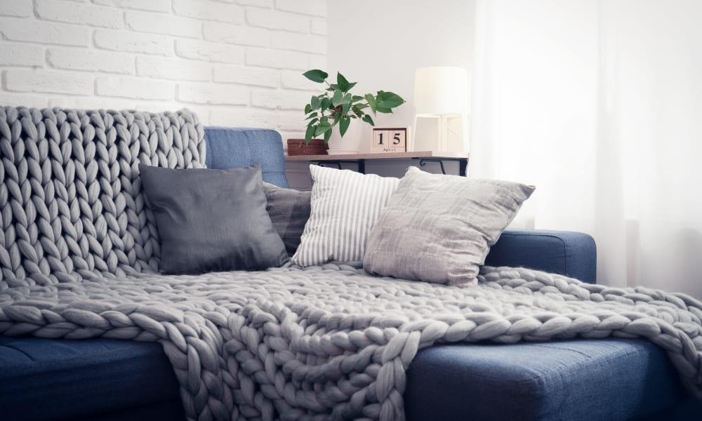 Cozy living room at Mount Carmel Apartments in Mount Carmel, Pennsylvania
