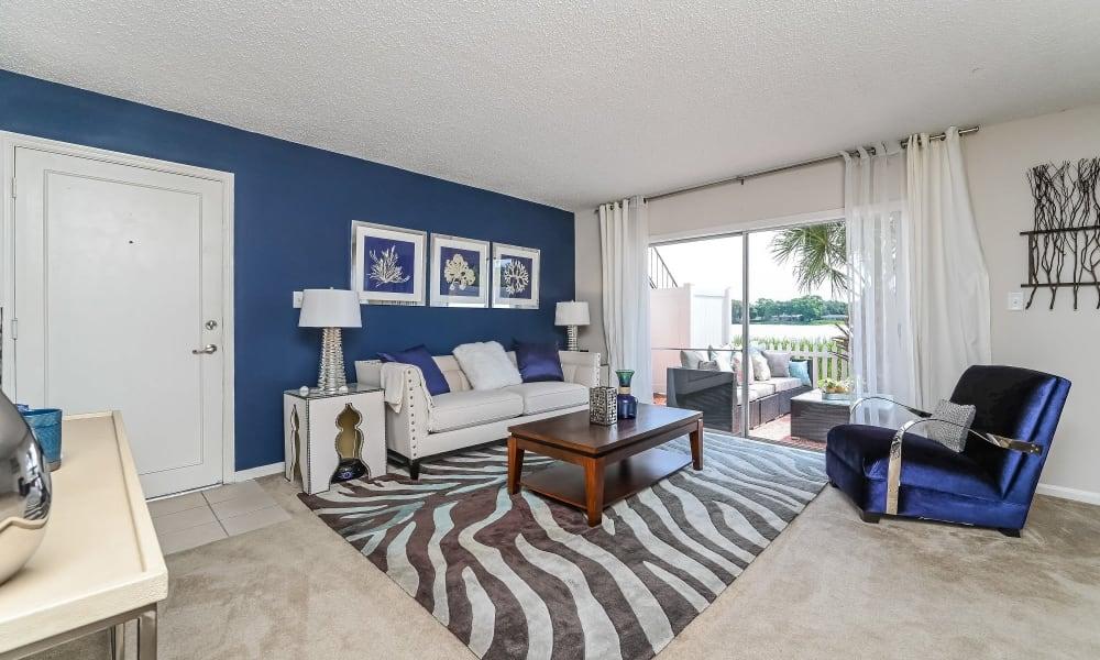 Spacious Living Room at Park at Lake Magdalene Apartments & Townhomes in Tampa, Florida