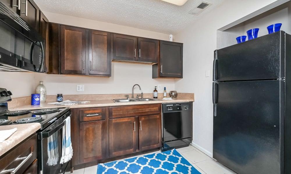 Modern Kitchen at Park at Lake Magdalene Apartments & Townhomes in Tampa, Florida