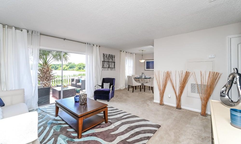 Living Room at Park at Lake Magdalene Apartments & Townhomes in Tampa, Florida