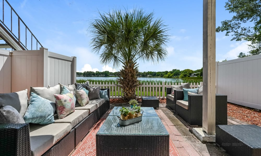 Outdoor Lounge Area at Park at Lake Magdalene Apartments & Townhomes in Tampa, Florida