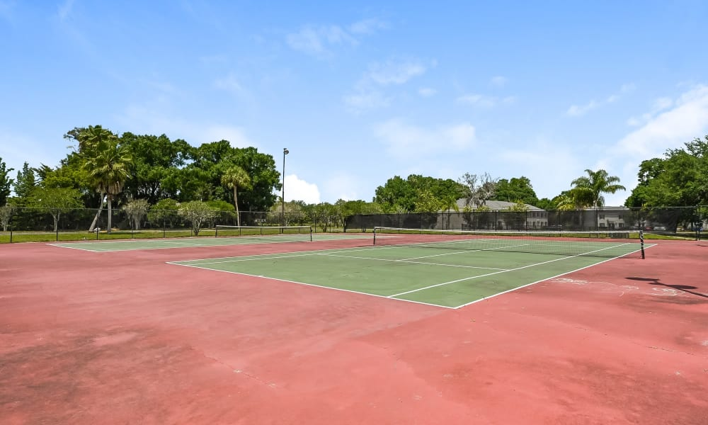 Our Apartments in Tampa, Florida have a Tennis Court