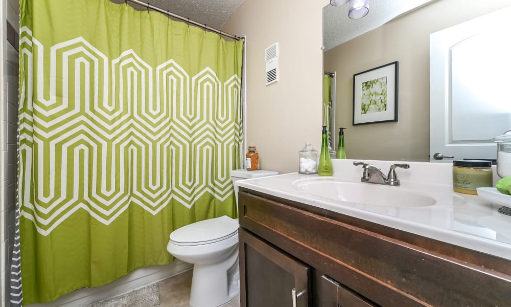 Bathroom at Park at Lake Magdalene Apartments & Townhomes in Tampa, Florida