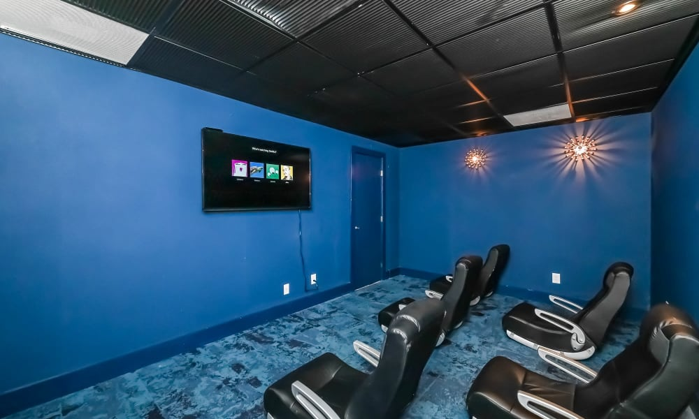 Enjoy Apartments with a Theater at Park at Lake Magdalene Apartments & Townhomes in Tampa, Florida