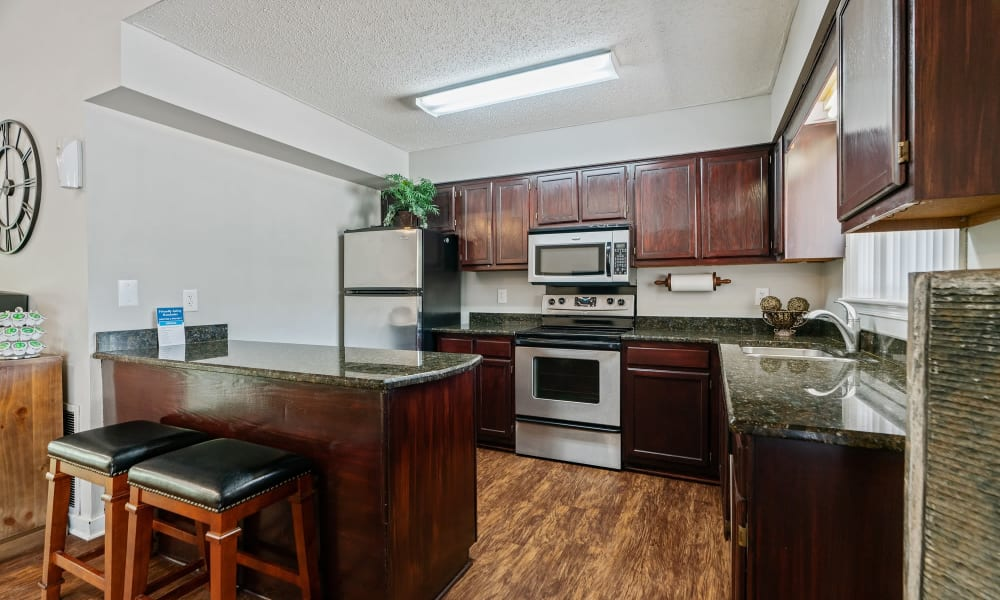 Well-Appointed Kitchen at Riverwind Apartment Homes in Spartanburg, South Carolina