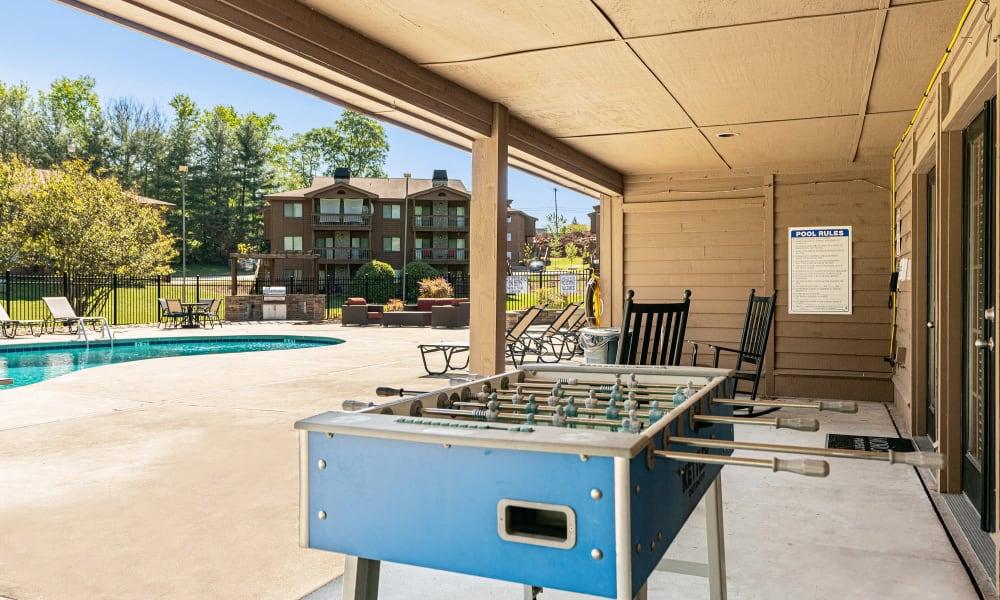 Foosball Table at Riverwind Apartment Homes in Spartanburg, South Carolina