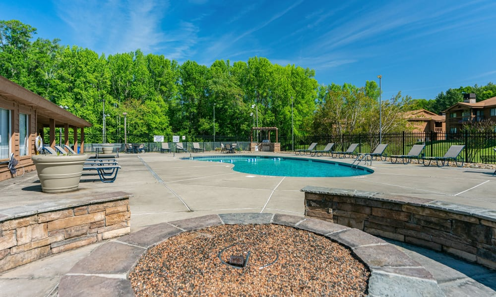 Outdoor Firepit at Riverwind Apartment Homes in Spartanburg, South Carolina
