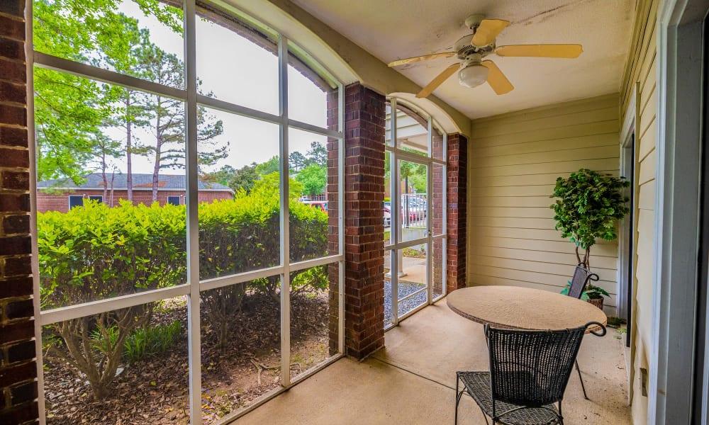 Apartments with Private Patio / Sun Room in Macon, Georgia