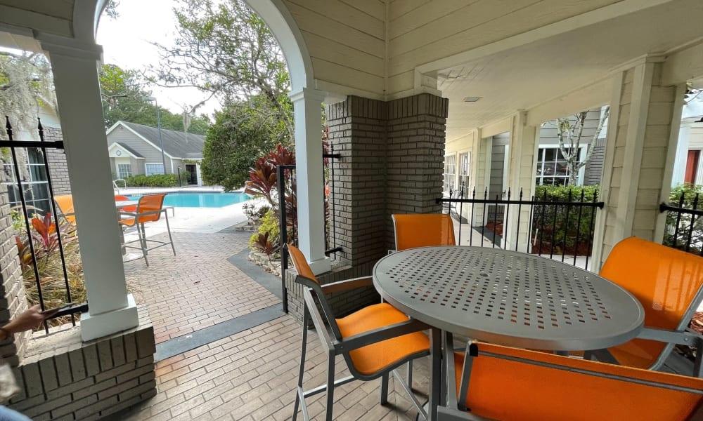 Outdoor Lounge Area at Promenade Apartment Homes in Winter Garden, Florida