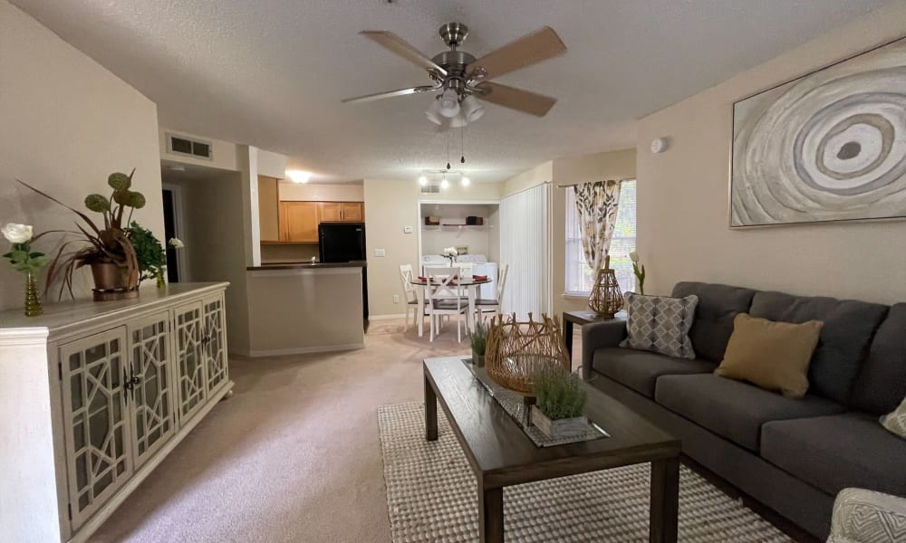 Spacious Living Room at Promenade Apartment Homes in Winter Garden, Florida