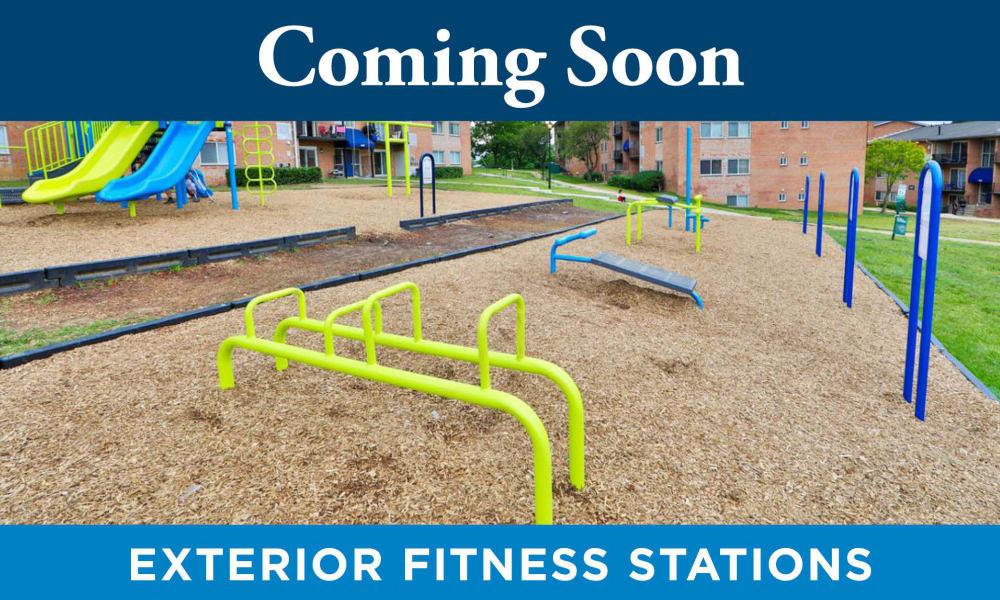 Outdoor Fitness Area at Promenade Apartment Homes in Winter Garden, Florida