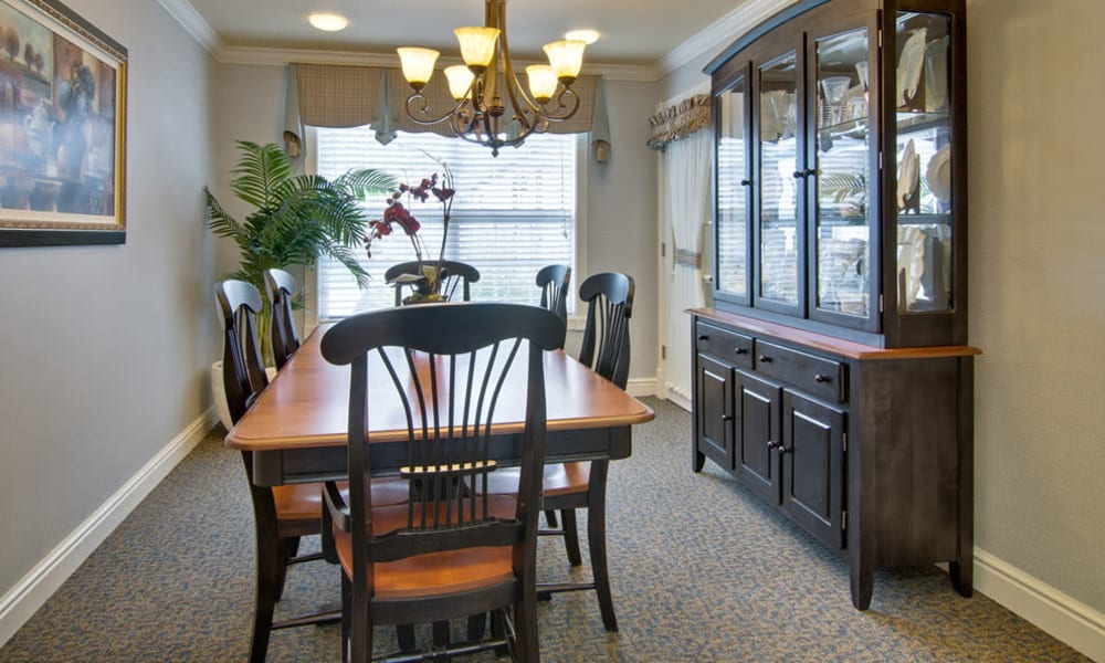 Private dining at The Arbors at Dunsford Court in Sullivan, Missouri.