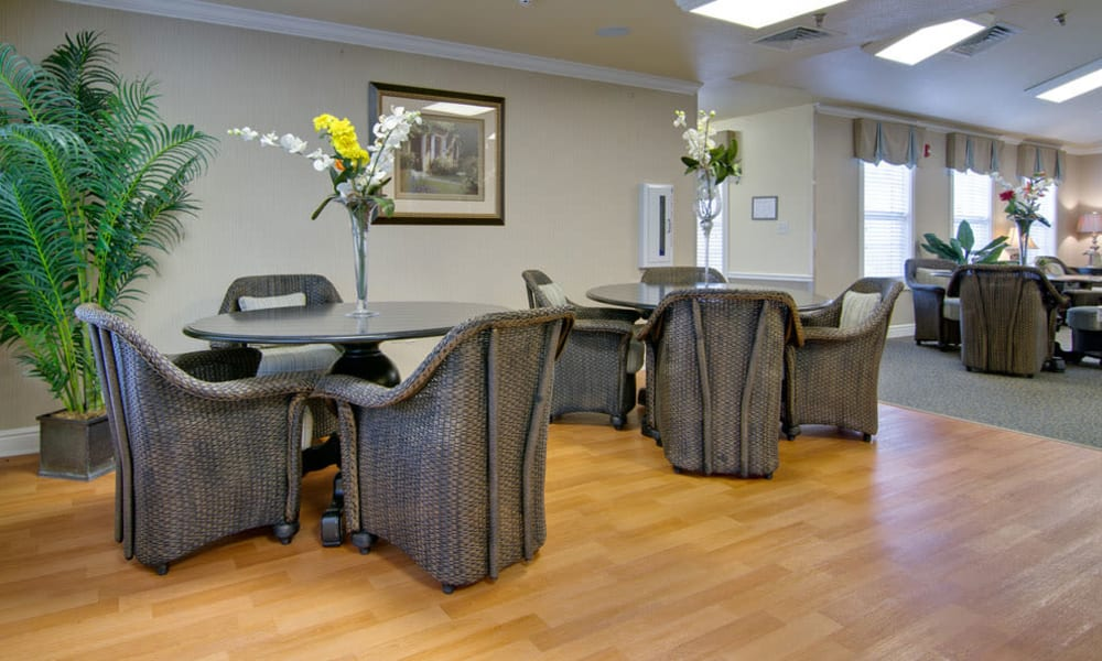 Assisted living kitchen at The Arbors at Dunsford Court in Sullivan, Missouri.