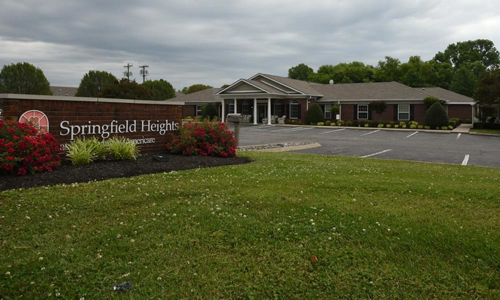 Branding and Signage outside of Springfield Heights in Springfield, Tennessee