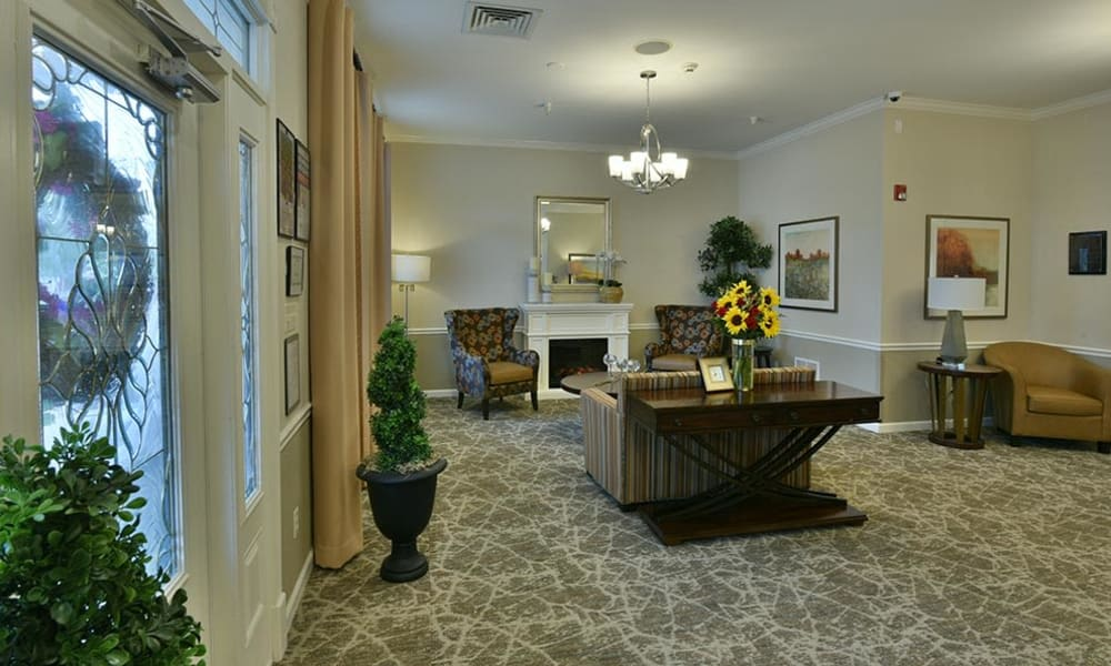 Fireplace Lounge at Springfield Heights in Springfield, Tennessee