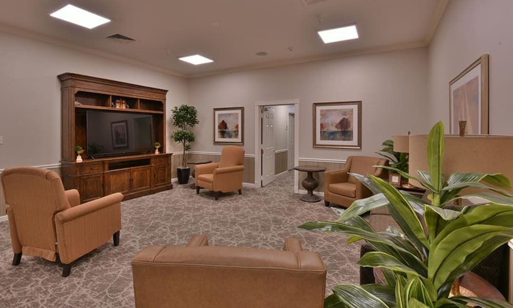 Television Room at Springfield Heights in Springfield, Tennessee