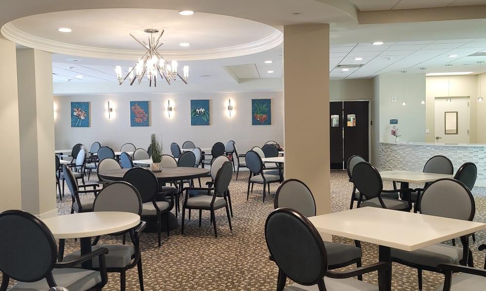 Main Dining Room at Inspired Living Delray Beach in Delray Beach, Florida