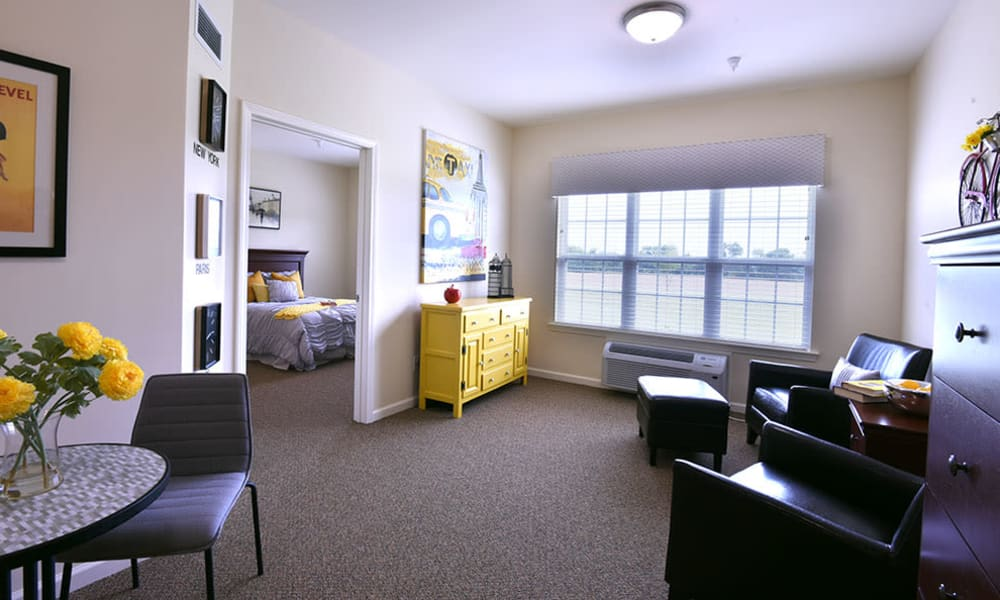 Resident Suite at Dogwood Pointe Senior Living in Milan, Tennessee