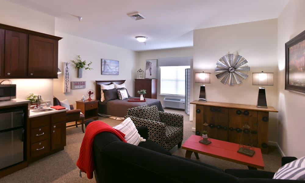 Resident Alcove at Dogwood Pointe Senior Living in Milan, Tennessee