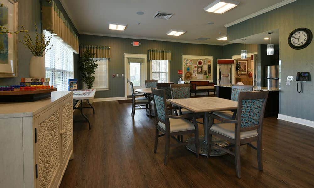 Activities Room at Dogwood Pointe Senior Living in Milan, Tennessee