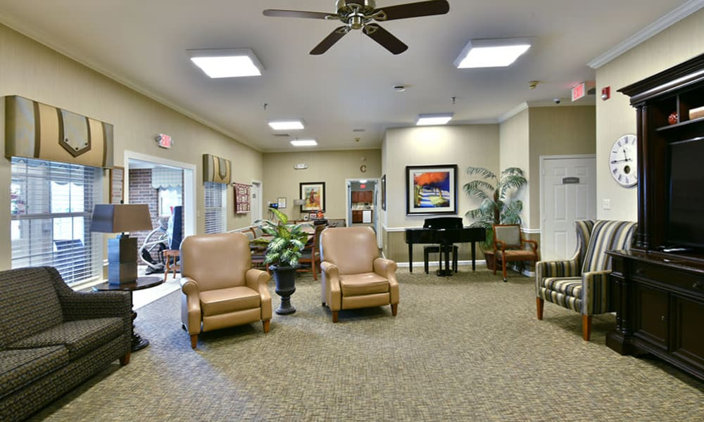 Television Lounge at The Arbors at Dogwood Pointe Senior Living in Milan, Tennessee