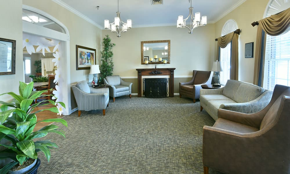 Fireside Lounge at The Arbors at Dogwood Pointe Senior Living in Milan, Tennessee